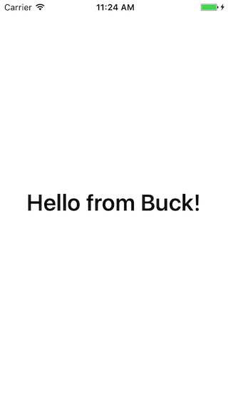 iOS Hello Buck